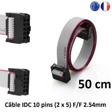 Nappe Câble ruban plat IDC 2.54 mm F/F 10Pin 28AWG Imprimante 3D Printer 50 cm