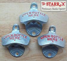3 orig. USA STARR X Wandflaschenöffner Wand Anbau Flaschenöffner Retro Style