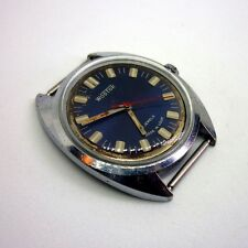 Vintage Soviet Russian USSR Vostok blue face 2409A mechanical watch.