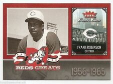 2006 FLEER GREATS OF THE GAME REDS GREATS Frank Robinson #CINFR