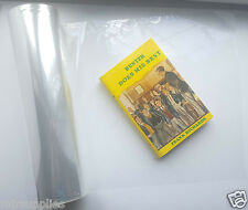 CLEAR PLASTIC BOOK JACKET COVER 340mm x 120m roll! Covers up to 250 books!!