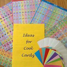 Cool Cardz Refills With 120 Sponge Bob Stickers; + UNIQUE  COOL CARDZ IDEAS