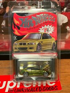 Hot Wheels RLC 2006 BMW M3 E46 Exclusive Spectraflame Yellow