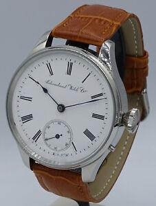 Beauty stainless steel IWC International Watch Co SCHAFFHAUSEN cal.29 movement