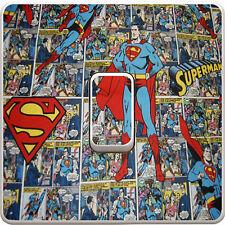 Superman Comic Light Switch Vinyl Sticker Decal for Kids Bedroom #114