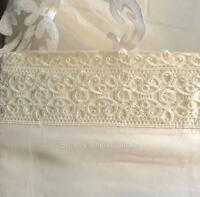 """10cm Lace Elegant Ivory Beige Queen Bed Sheet Set Shabby French Chic 15"""" Pocket"""