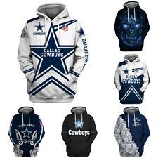 Dallas Cowboys Hoodie 3D Print Sweatshirt Men's Casual Pullover Fans Jacket Coat