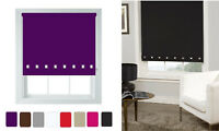 Square Eyelet Roller Blinds Trimmable Window Blinds For Office Home Multi Colour