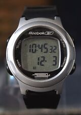 New REEBOK Sports Watch Grey with Black Rubber Band Sports Watch