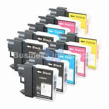 10 PK LC61 Ink for Brother MFC-J630W MFC-J615W MFC-J415W MFC-J410W MFC-J270W