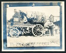 c. 1897 WHITE STAR LINE DELIVERY WAGON, NEW YORK CITY Vintage Photo