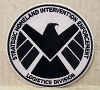 "Avengers/Agents of SHIELD TV Series 3.5"" Black & White Logo Patch (ASPA-001)"