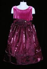 George Size 6 Girls Easter Dress Lavender Iridescent Illusion Velour Wedding