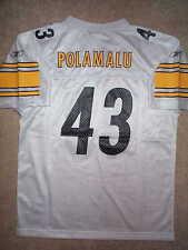 REEBOK Pittsburgh Steelers TROY POLAMALU nfl Jersey YOUTH KIDS BOYS (s-small)