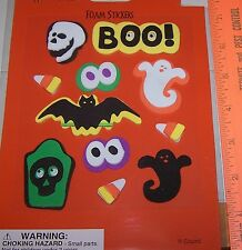 NIP 11 3-D HALLOWEEN Foam Stckers BOO Has Googly Eyes