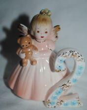 """Josef Original figurine, birthday angel """"2"""", 1950s era, excellent"""