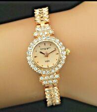 ROSE GOLD PLATED Rhinestone Designer Wrist watches For Lady's Girls Women