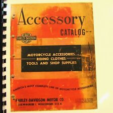 1955 Harley-Davidson Accessories Catalog 73 Pages Fully Illustrated Free S/H