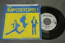 """IMPOSTORS  Don't Get Mad private SF PUNK '80 7"""" w/ pic sleeve"""