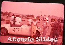 1950s ektachrome photo slide Sports Car Racing  Florida   auto races car #47
