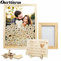 Wedding Guest Book Wishing Tree Hearts Drop Box with Wood Heart and Photo Frame