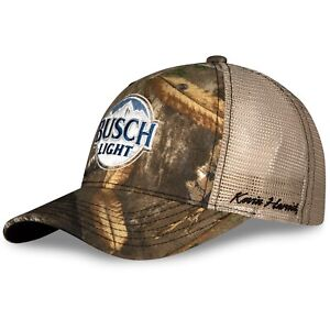 Kevin Harvick 2021 Checkered Flag Busch Light Real Tree Camo Nascar Hat / Cap