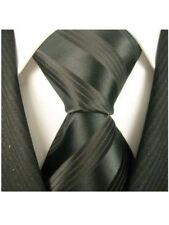 Scott Allan Mens Formal Striped Necktie - Black Mens Tie