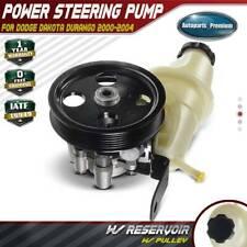 Power Steering Pump w/ Pulley Reservoir for 2000-2004 Dodge Durango Dakota 4.7L