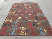 Kilim Old Traditional Hand Made Afghan Oriental Kilim Brown Wool 290x205cm