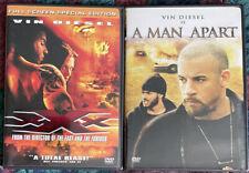 Vin Diesel 2 Dvd Lot: Xxx & A Man Apart Like New! Free Shipping!