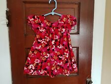 THE CHILDREN'S PLACE Girl's 12-18 Months Floral 100% Cotton Short Sleeve Dress