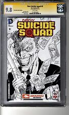 New Suicide Squad (2014) # 9 Amazing Con Sketch - CGC 9.8 White Pages SS Jim Lee