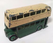 """Dinky Toys Dunlop Double Decker Bus #29C """"AEC"""" Grill 1950s - RARE"""