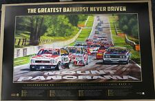 FORD HOLDEN BATHURST 50TH YEAR GREATEST RACE NEVER DRIVEN PRINT PETER BROCK