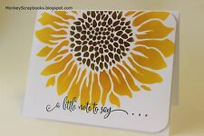 Crafters Workshop JOYFUL SUNFLOWER 6x6 stencil, Made in USA