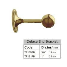 Deluxe End Bracket 25mm Polish Brass finish