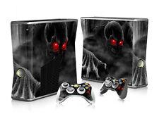 XBOX 360 Slim Skin Design Foils Aufkleber Schutzfolie Set - Dark Skull Motiv