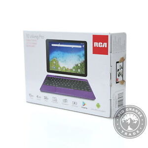 """NEW RCA Viking Pro 2 in 1 Tablet with 10.1"""" Touchscreen - Purple Edition"""