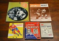 5-LOT 1950s 1960s Montreal CANADIENS booklets books magazines
