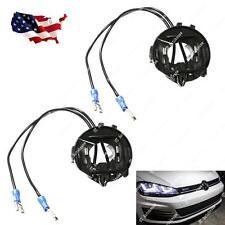 2x Volkswagen VW MK7 Golf GTi H7 HID Bulbs Holders Adapters Halogen Headlights
