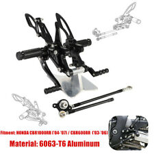 Fit For Honda CBR1000RR/CBR600RR 2004-07 CNC Adjusting Rearset Footpegs Rear Set