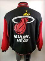 NBA Miami Heat Varsity Jacket JH Design Jeff Hamiliton Mens XL Wool Leather