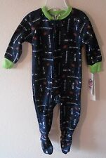 Gerber Toddler Boy NFL Seattle Seahawks Blanket Full-zip Sleeper 3t Baby Clothes