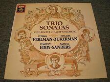 Bach's Sons & Goldberg: Trio Sonatas~Perlman & Zukerman & Eddy & Sanders~NM LP
