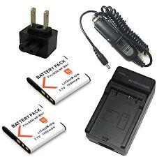 Charger + 2x Battery for NP-BN1 Sony Cyber-shot DSC-W830 DSC-TF1 Digital Camera