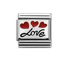 Genuine Nomination Silvershine Red Love Balloons Italian  Charm