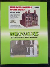 Metcalfe PO262. Terraced Houses (Stone Built). Ready Cut Card Kit. 00 Scale.