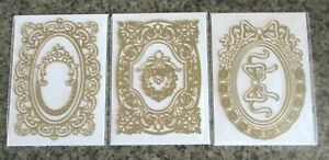 Anna Griffin 3 FANCY FRENCH FRAME DIES Cut & Emboss 10 pieces HSN