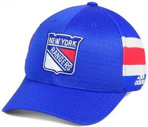 "New York RANGERS Adidas NHL Blue Small / Medium Structured Flex Cap ""NEW"""