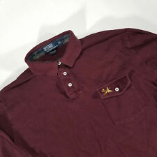 Polo Ralph Lauren PRL Maroon Rugby Pheasant Adult XL LS Outdoors Hunting VTG 90s